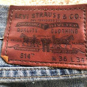 Levi's Strauss 514 Men's Jeans 36 x 34